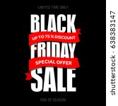 black friday sale inscription... | Shutterstock . vector #638383147