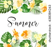 summer sale card. summer... | Shutterstock .eps vector #638384263