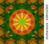 vector ornaments  background.... | Shutterstock .eps vector #638410363