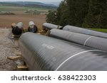 pipeline construction next to... | Shutterstock . vector #638422303