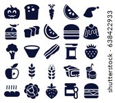 nutrition icons set. set of 25... | Shutterstock .eps vector #638422933