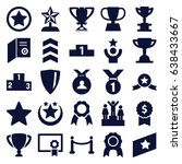 award icons set. set of 25... | Shutterstock .eps vector #638433667