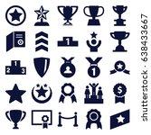 award icons set. set of 25...   Shutterstock .eps vector #638433667