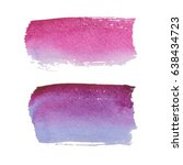 abstract watercolor brush... | Shutterstock .eps vector #638434723