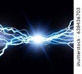 electric lightning bolt. energy ... | Shutterstock .eps vector #638436703