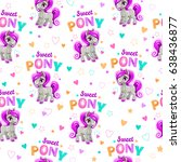 cute seamless pattern with... | Shutterstock .eps vector #638436877