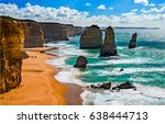 mountain sea beach landscape | Shutterstock . vector #638444713