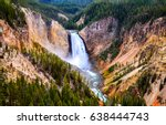 Yellowstone Mountain Waterfall River Landscape - Fine Art prints