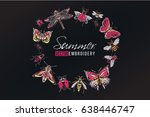 Summer Insects Round Border. T...