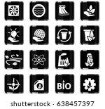 alternative energy vector icons ... | Shutterstock .eps vector #638457397