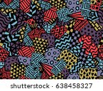 vector seamless pattern with... | Shutterstock .eps vector #638458327