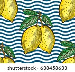 elegant seamless pattern with... | Shutterstock . vector #638458633
