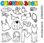 coloring book with apparel 2  ... | Shutterstock .eps vector #63846301