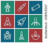 future icons set. set of 9... | Shutterstock .eps vector #638515267