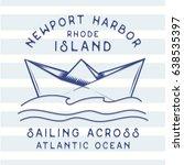 marine boat illustration ... | Shutterstock .eps vector #638535397