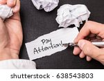 pay attention | Shutterstock . vector #638543803