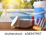 swimming pool service and... | Shutterstock . vector #638547907