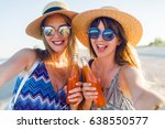 two happy positive girls   best ... | Shutterstock . vector #638550577