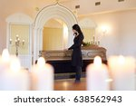 burial  people and mourning... | Shutterstock . vector #638562943