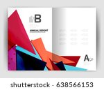 triangle business print... | Shutterstock .eps vector #638566153