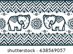 vector tribal ornamental... | Shutterstock .eps vector #638569057