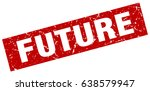 square grunge red future stamp | Shutterstock .eps vector #638579947