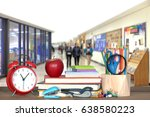 back to school concept with... | Shutterstock . vector #638580223