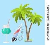 summer time beach sea shore... | Shutterstock .eps vector #638582257