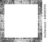 grunge black white square... | Shutterstock .eps vector #638585593