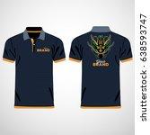 color men polo shirts. design... | Shutterstock .eps vector #638593747