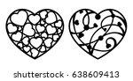 set of laser cutting template.... | Shutterstock .eps vector #638609413