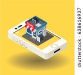 shop online  isometric icon | Shutterstock .eps vector #638616937