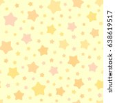 vector stars pattern. seamless... | Shutterstock .eps vector #638619517