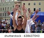 krakow  poland   july 12  2008  ... | Shutterstock . vector #638637043