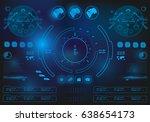 futuristic virtual graphic... | Shutterstock .eps vector #638654173