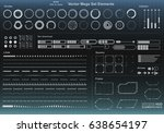 set of black and white... | Shutterstock .eps vector #638654197
