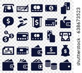 pay icons set. set of 25 pay... | Shutterstock .eps vector #638673523