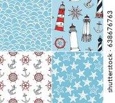sea vector patterns  seamless...   Shutterstock .eps vector #638676763
