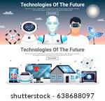 technologies of future... | Shutterstock .eps vector #638688097