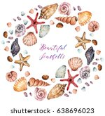 watercolor illustration ... | Shutterstock . vector #638696023