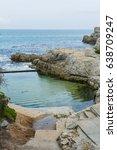 flicks pool  a coastal rock... | Shutterstock . vector #638709247