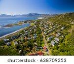 coastal town of kommetjie  ... | Shutterstock . vector #638709253