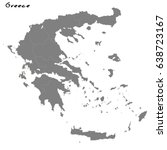 high quality map of greece with ... | Shutterstock .eps vector #638723167
