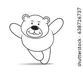 happy cartoon bear running...   Shutterstock .eps vector #638726737
