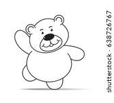 cartoon bear cheering with...   Shutterstock .eps vector #638726767