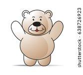 cartoon bear spreading hands...   Shutterstock .eps vector #638726923