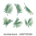 vector set of different green... | Shutterstock .eps vector #638739283