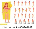 summer holiday. people in the... | Shutterstock .eps vector #638741887