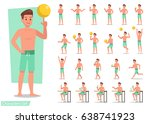 summer holiday. people in the... | Shutterstock .eps vector #638741923