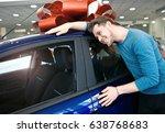 happy young man is hugging his... | Shutterstock . vector #638768683